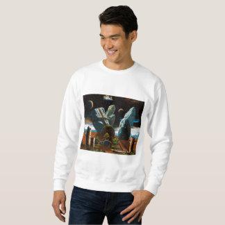 Large rock packing sweatshirt
