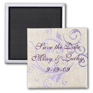 Large Scroll Save the Date Magnet