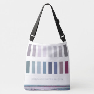 Large Seascape Interior Design Color Palette Crossbody Bag