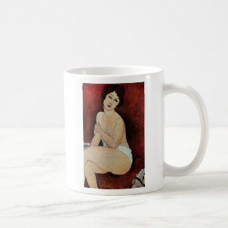 Large Seated Nude (oil on canvas) Coffee Mug