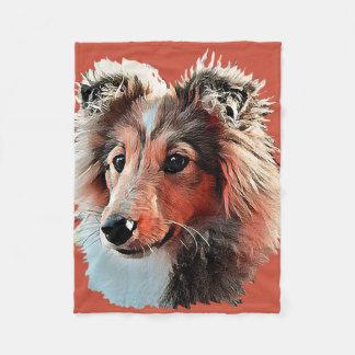 Large Shelty  Portrait Blanket
