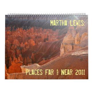 large size  Martha Lewis: Places Far & Near 2011 Wall Calendars