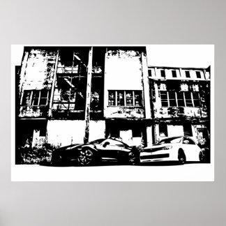 Large sized - Skyline with WRX Impreza Subbie Poster