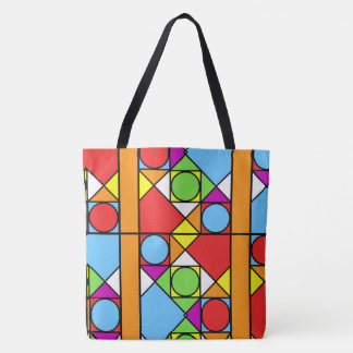 Large-Sized Tote Bag Abstraction #1
