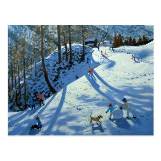Large Snowball Zermatt Postcard