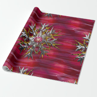 Large Snowflake Over Paris 15 feet of Wrapping Paper