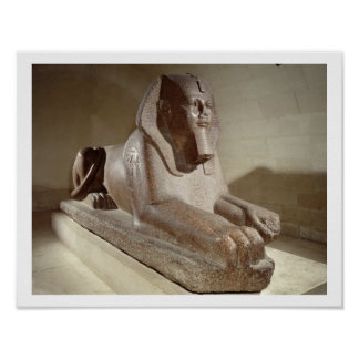 Large Sphinx, from Tanis (granite) Poster