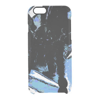 Large spider on metal surface clear iPhone 6/6S case