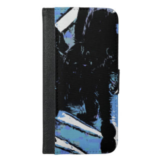 Large spider on metal surface iPhone 6/6s plus wallet case