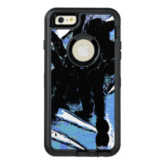 Large spider on metal surface OtterBox defender iPhone case