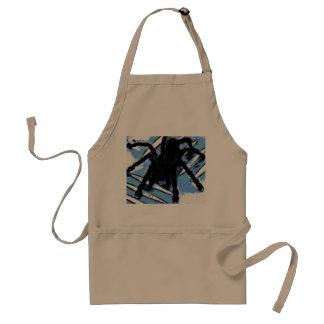 Large spider on metal surface standard apron