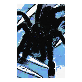 Large spider on metal surface stationery