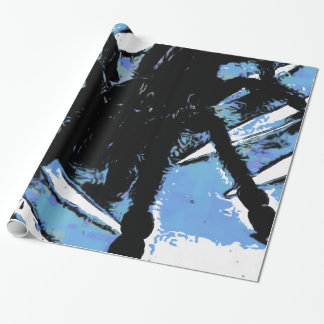 Large spider on metal surface wrapping paper