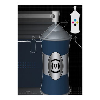 large spray can poster