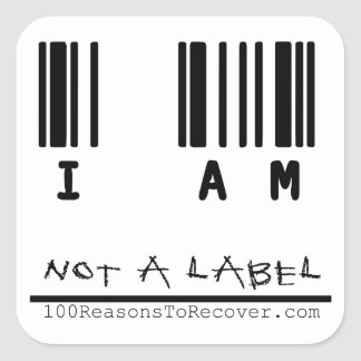 Large Sticker - Not a Label