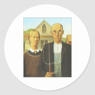 Large Stickers American-Gothic Grant-Wood