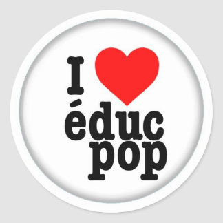 Large Stickers/Stickers I coils pop educ Classic Round Sticker