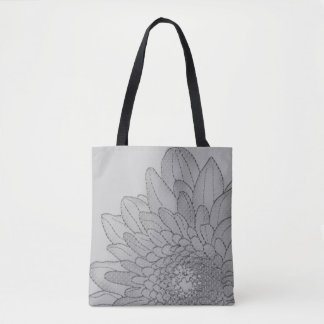 Large Sunflower Grey Graphic | Tote Bag