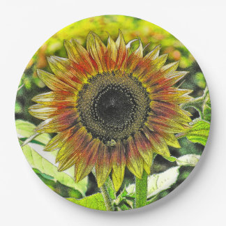 LARGE SUNFLOWER PAPER PLATES