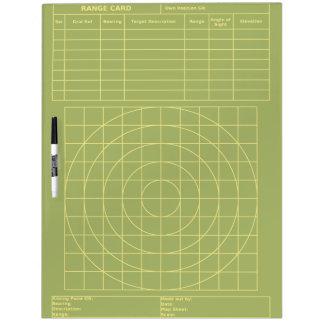 Large Tactical Range Card Dry Erase White Board