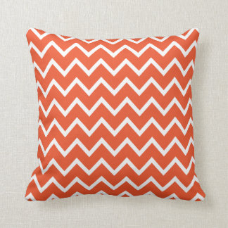 Large Tangerine Tango Chevron Pillow