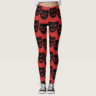 Large Theatre Masks Leggings