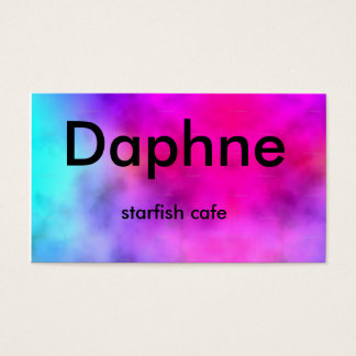 Large_tie-dye_highres, Daphne, starfish cafe Business Card