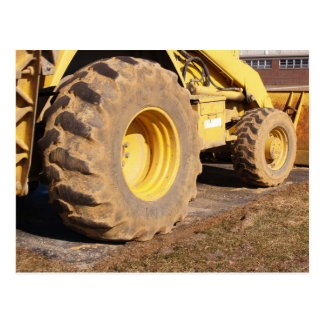 large tires for construction equipment postcard