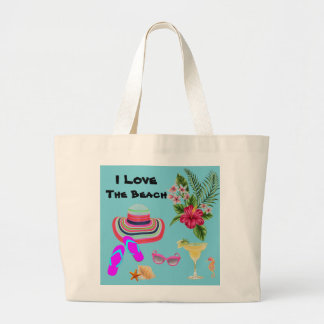 Large Tote Tropical  beach bag