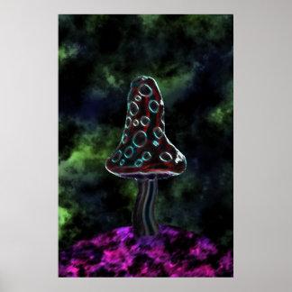 Large Trippy Mushroom Poster
