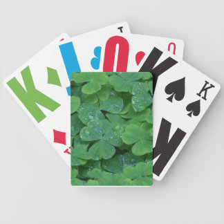 Large Type Shamrock Playing Cards