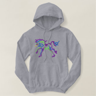 Large Unicorn Embroidered Hoodie
