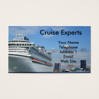Large Vacation Cruise Ship Business Card