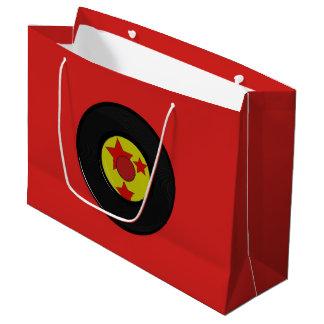 Large, Vinyl Record. Large Gift Bag