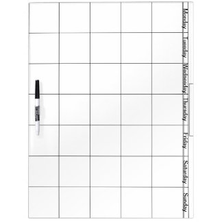 Large w/ Pen Dry Erase Board With Days Of Week