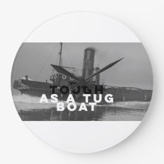 Large Wall Clock Tough As A Tugboat