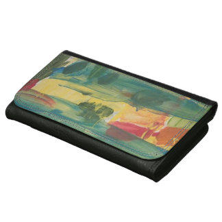 "Large Wallet with Albert Smeraldo's ""Sunset Bridge"