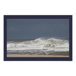 Large Wave Photo Poster