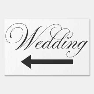 Large Wedding Outdoor yard sign