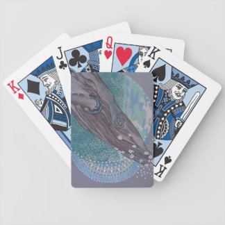 Large whale bicycle playing cards
