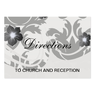 large white and black bold damask business card template