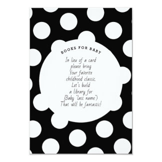 Large White Polka Dot Pattern - Book Request Baby Card