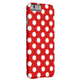 Large white Polka Dots, very pretty red Barely There iPhone 6 Case