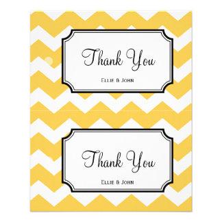 Large yellow chevron diy wedding gift bag hang tag flyer