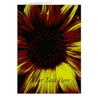 large yellow sunflower photographic art original card