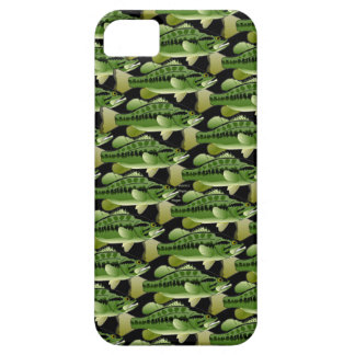 Largemouth Bass Camo Pattern on black iPhone 5 Covers