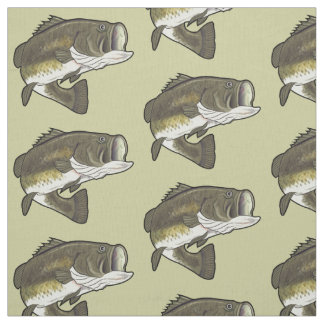 Largemouth Bass Fabric