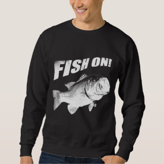 Largemouth bass fish on sweatshirt
