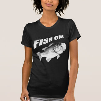 Largemouth bass fish on shirts