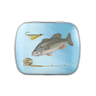 LARGEMOUTH BASS FISHING-CANDY TIN